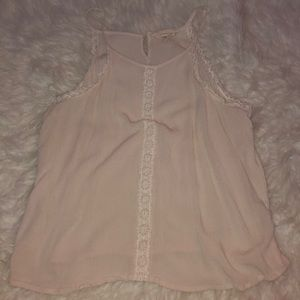 cream tank top with lace